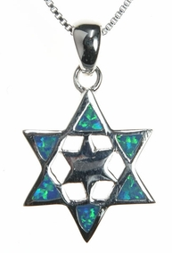 Sterling Silver Magen David Necklace