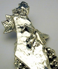 Sterling Silver Map of Israel Miniature