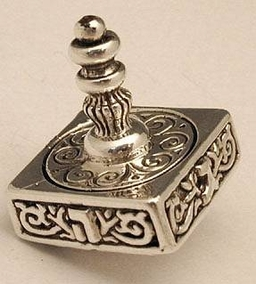 Sterling Silver Medium Square Dreidel