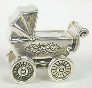 Sterling Silver Miniature of Pram