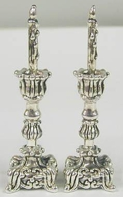 Sterling Silver miniature Shabbath candlesticks