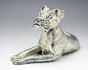 Sterling Silver Model Of A Great Dane