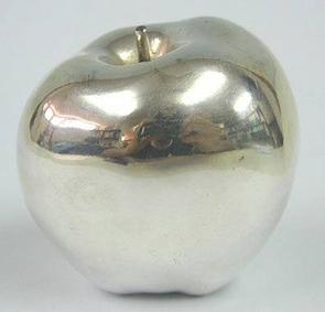 Sterling Silver Model of an Apple