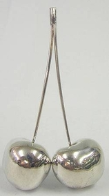Sterling Silver Model of Cherries