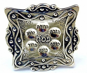 Sterling Silver Passover Seder Plate Miniature