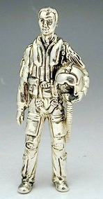 Sterling Silver Pilot Miniature