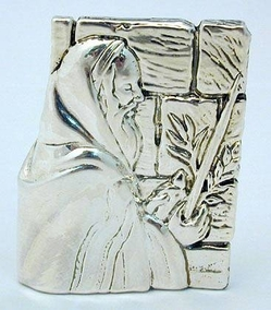 Sterling Silver Praying in fron of the Western wall