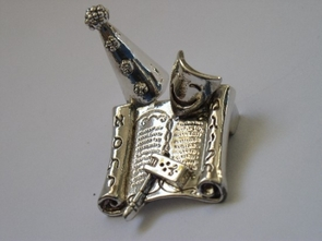 Sterling Silver Purim Set Stand