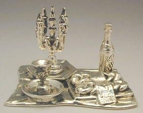 Sterling Silver Shabbath Table Flat