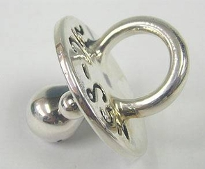 Sterling Silver Small Pacifier