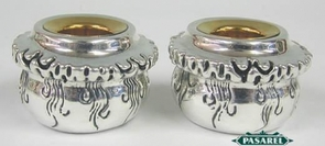 Sterling Silver Small Wall Candlesticks