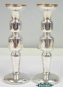 Sterling Silver Smooth Candlesticks