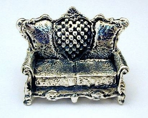Sterling Silver Sofa Miniature