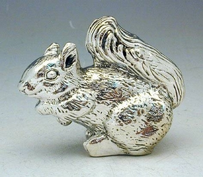Sterling Silver Standing Squirrel Miniatur