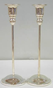 Sterling Silver Thin Candlesticks