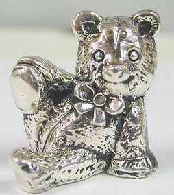 Sterling Silver Toying Teddy Bear Figurine