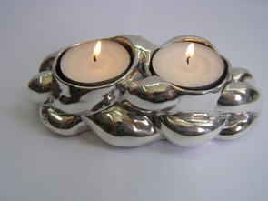 Sterling Silver Traveling CHALHA candlestick