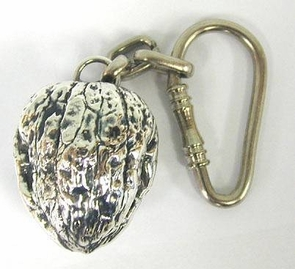 Sterling Silver Walnut Key Chain