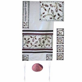 "Tallit Set CAT# TFA - 9, 19"" X 70"""