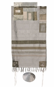 "Tallit with Stripes CAT# TRS- 3, 55"" X 73"""