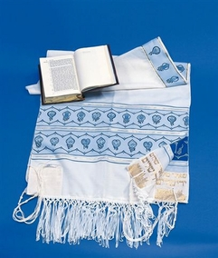 "The ""12 Tribes"" Tallit for the young Jewish boy 40X180cm"