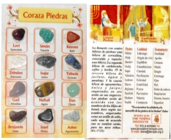 The Breastplate Stones Pocket Postcard in Spanish.
