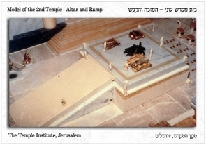 The Holy Temple Postcard - Outer Altar and Ramp Model