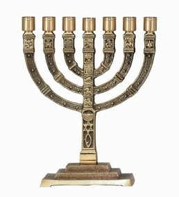 The Jewish Astronomy Signs Menorah