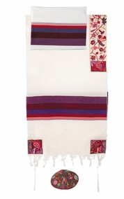 """The Matriarchs in Color Tallit CAT# THE- 5, 20"""" X 75"""""""
