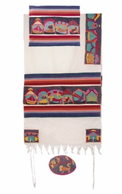 "The Twelve Tribes Tallit  CAT# TFE- 6 , 42"" X  75"""