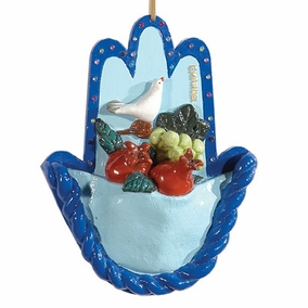 Three Dimensional Painted Hamsa HLP-5 CAT# HLP - 5