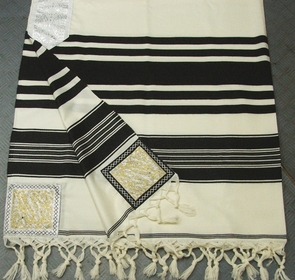 "Traditional ""Temani"" Jewish Talit 100% delicate special wool for adults 150X250cm"