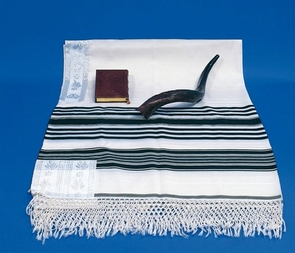 "Traditional ""Temani"" Jewish Talit 100% delicate special wool for grown-up 110X160cm"