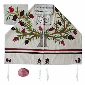 "Tree Of Life Tallit Set CAT# TFA - 11, 19"" X 70"""