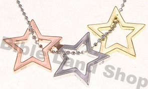 Triple Star of David Necklace