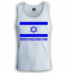 Wherever Israel Stand I stand Singlet