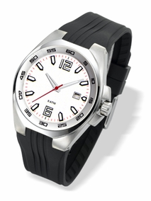 WHITE stainless steel men's watch - 3067