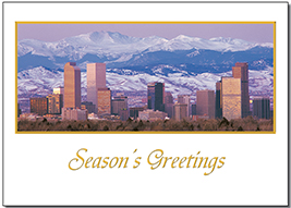 City skyline of denver boxed set of 10 greeting cards white city skyline of denver boxed set of 10 greeting cards white envelopes blue sky cards are perfect for the holidays these 5 x 7 cards are available m4hsunfo