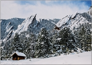 Flatirons and Cabin