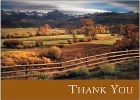 Fall Colors at the Dallas Divide<br>Personalized Thank You Card