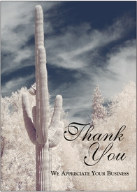 Saguaro Cactus in Winter<br>Personalized Thank You Card
