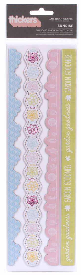 American Crafts Hello Sunshine Chipboard Border Stickers