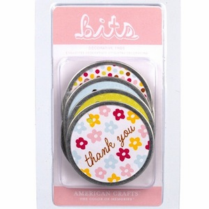 American Crafts Hello Sunshine Round Metal Rimmed Tags