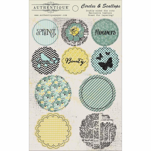 Authentique Paper Renew Circles & Scallops