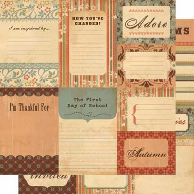 Cosmo Cricket Gretel Journaling Cards