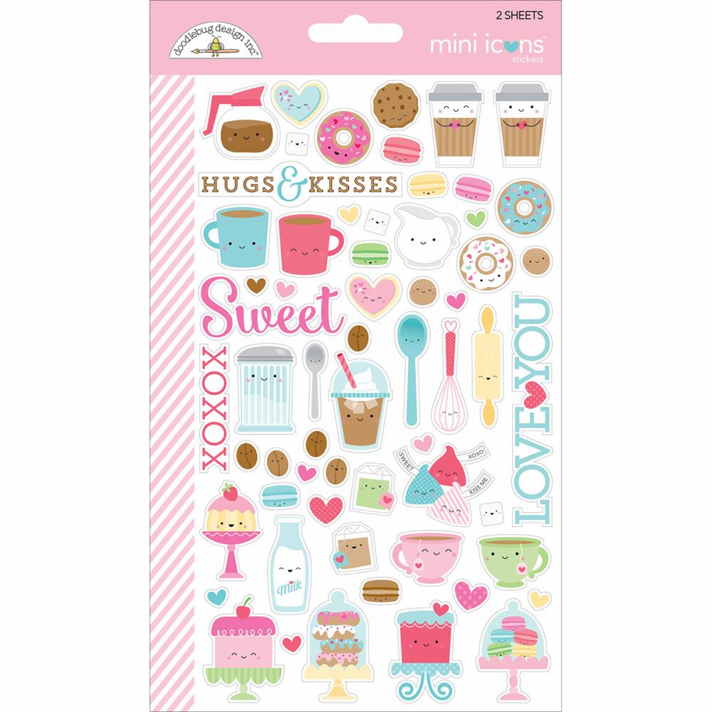 Doodlebug Cream & Sugar Mini Icons Stickers