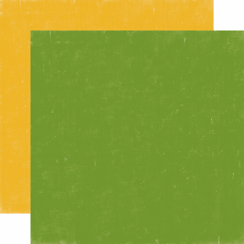 Echo Park Paper - Happy Camper - Cardstock Green/Yellow