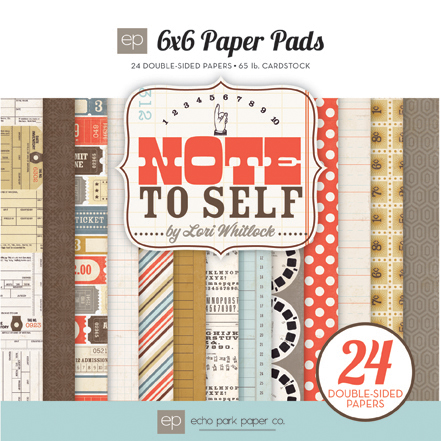 Echo Park Paper - Note to Self - Paper Pad 6x6