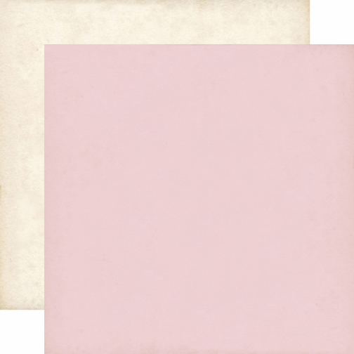 Echo Park Paper Yours Truly Light Pink & Cream Solid