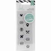 Heidi Swapp Hello Beautiful Circle Icons Acrylic Stamps